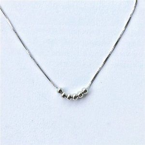 Jewelry - NEW 925 Sterling Silver Simple Bead Necklace